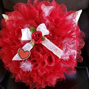 Handcrafted VALENTINE'S Day Wreath